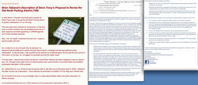 April 28. 2013. ONDNA Pres Refuses to Publish Proposed Parking Plan, City Planner Does It Instead