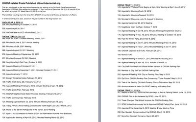List of ONDNA-related Posts Published on oldnorthdavischat.org